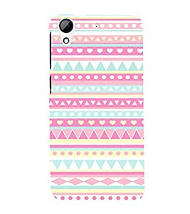 Colorful Zig Zag Pattern 3D Hard Polycarbonate Designer Back Case Cover for HTC Desire 626 G::HTC Desire 626G Plus::HTC Desire 626G+