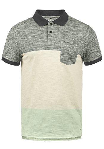 Blend Johansus Herren Poloshirt Polohemd T-Shirt Shirt Mit Polokragen 100% Baumwolle, Größe:L, Farbe:Pewter Mix (70817) -