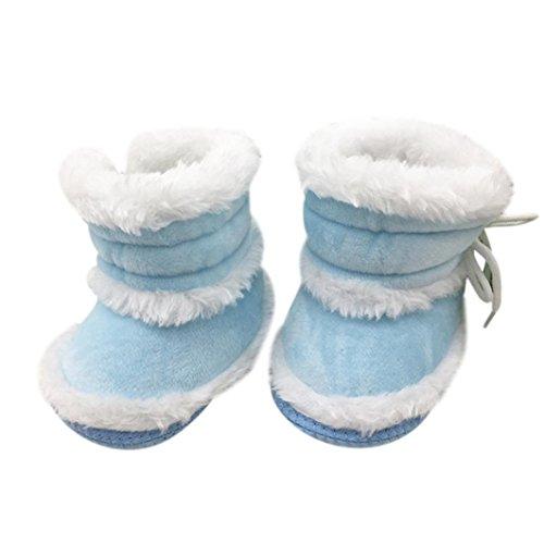 Babyschuhe Longra Baby Stiefel Schuhe weiche Sohle Stiefel Prewalker warme Lauflernschuhe Krippeschuhe (0-18 Monate Baby) Blue