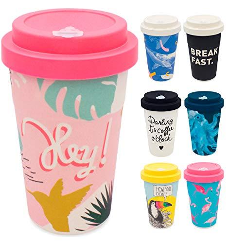 holi. Coffee-to-Go Bambus-Becher mit Schraubdeckel, Verschluss-Möglichkeit | Woodcup Kaffeebecher |...