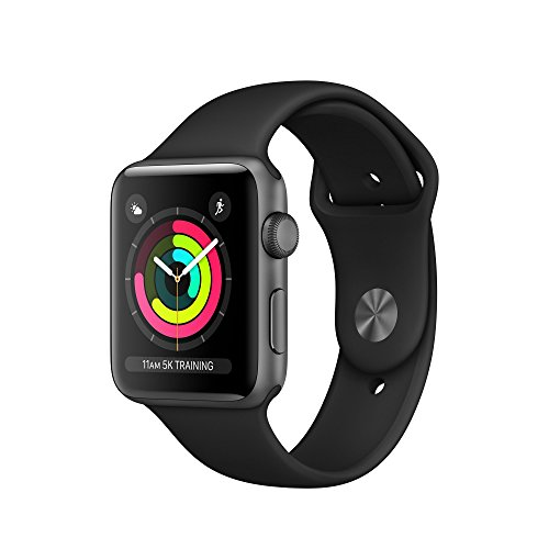 APPLE MQL12B/A Watch Series 3 GPS 42mm Space Grey Aluminium Case with Black Sport Band - (Smart Tech > Smart Fitness) (Refurbished)