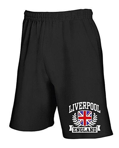 Cotton Island - Pantalone Tuta Corto TSTEM0183 liverpool england fitted da Nero