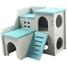 SM SunniMix Castillo Casa Cama de Hámster Accesorios de Animales Doemsticos Resistente Duradero - Azul