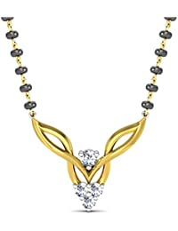 Avsar New Collection 18K (750) Yellow Gold and Diamond Pendant for Women