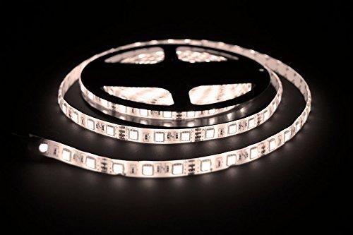 ProGoods 5m warmweiss SMD LED-Streifen / LED-Strip mit 300 LED's (60Stk/m) bestückt   12V, 2A   optimal für Innenraumbelechtung   selbstklebend   wasserdicht   energieeffizient