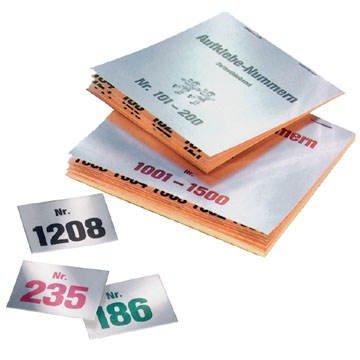 Preisvergleich Produktbild Gewinn-Aufklebenummern, selbstklebend, Nr 401-500