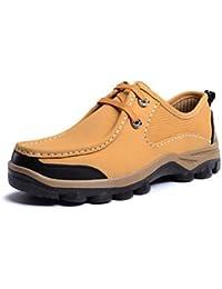Zapatos de hombre casual Oxfords de cuero marrón / amarillo / amarillo caqui-us1 / ue43 / uk9.5 / CN45