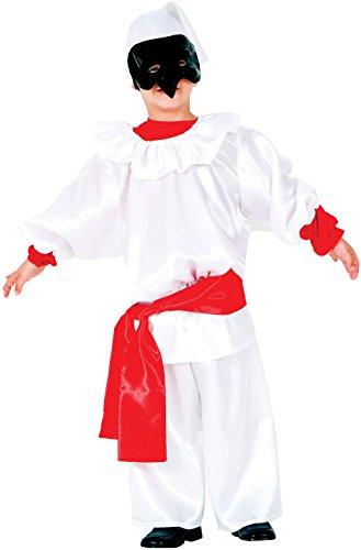 Kostüm Pulcinella (Carnevale Venizano CAV6131-M - Kinderkostüm PULCINELLA - Alter: 7-10 Jahre - Größe:)
