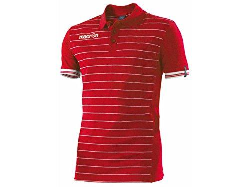 ATELIER DEL RICAMO Herren Poloshirt * Einheitsgröße Rosso / Bianco