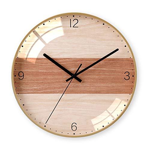 Everyday home 12 pouces moderne élégant élégant silencieux non-coutil en métal horloge murale ronde, simple créatif horloge murale salon chambres bureau cuisines (Couleur : H, taille : 30cm)