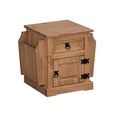 Mercers Furniture Corona Zeitschriftenständer, Holz, Antique Wax, 41 x 37 x 52 cm