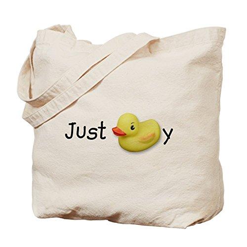 CafePress–Just Ducky,–Leinwand Natur Tasche, Reinigungstuch Einkaufstasche (Leinwand-gummi-ente)