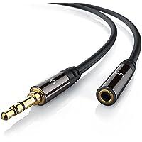 Uplink - 3m Cavo di prolungamento audio con jack di per ingressi AUX | Spinotto in metallo pieno dalle dimensioni perfette | Connettore maschio da 3,5mm a connettore femmina da 3,5mm | Serie Premium HQ - Due Rca Maschio Speaker Cable