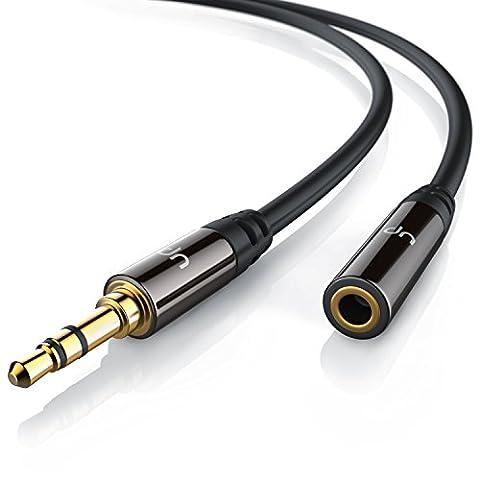 Uplink - 5m Câble jack audio | câble de connexion pour entrées / sorties AUX | Connecteur entièrement métallique sur mesure | prise 3,5 mm à fiche 3,5 mm (3 pôles) | Série HQ Premium