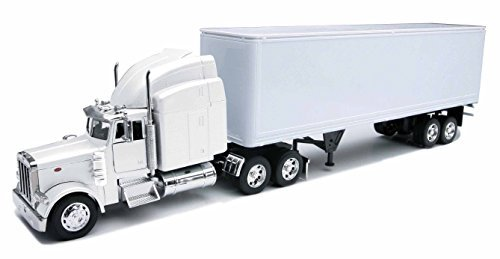 Peterbilt 379 With Dry Van - All-White Toy Truck by Peterbilt