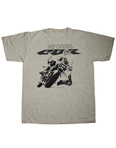 Hotfuel Motorrad CBR Race Print T-Shirt. Alle Größen Gr. Größe L, grau