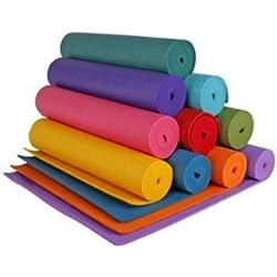 Yoga Mat Eco-Friendly Matt Excersie Study Picnic 6 MM Thick Matt Free Matt Cover(cOLOR MAY VARY)