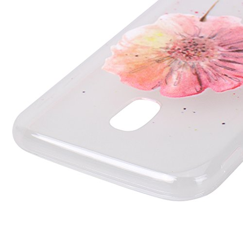 Étui Galaxy J3 2017, Coque Galaxy J3 2017, Moon mood® Transparente Protable Housse pour Samsung Galaxy J3 2017 Arrière Étui de Protection Souple TPU Silicone AntiChoc Cas Couverture Soft Case Bumper C 2PCS -3