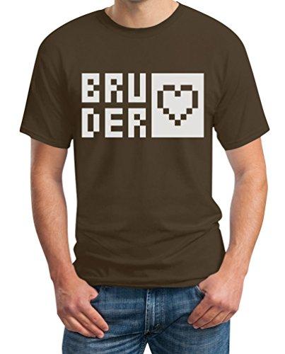 Bruderherz Männergeschenk Geburtstag Brudergeschenk T-Shirt Braun