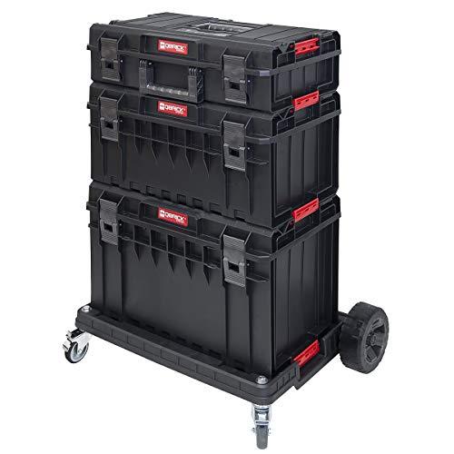Rollende Werkstatt 109,5 Liter 4 verwendbare Einzelmodule robuster Kunststoff Stoßkanten Metallschließen Innenausstattung Werkzeugwagen