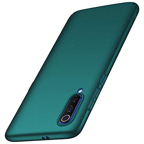 anccer Cover Xiaomi Mi 9, [High Quality] [Ultra Slim] Anti-Scratch Hard PC Case Cover for Xiaomi Mi 9 (Green Gravel)