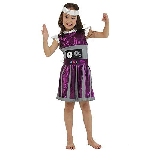 Aediea Halloween-Kostüm, Kinder-Kostüm, Roboter-Kleid, Anzüge für Halloween-Outfits, Polyester, S, S