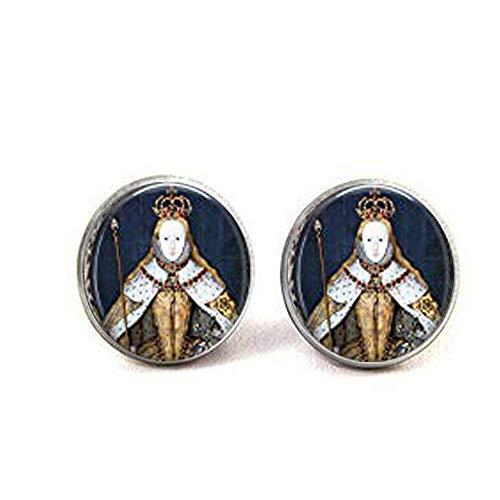 Queen Elizabeth I in her Coronation Robes British Monarch Queen Elizabeth Anhänger Big Ben - Great Britain Memento Ohrringe Literary Jewelry