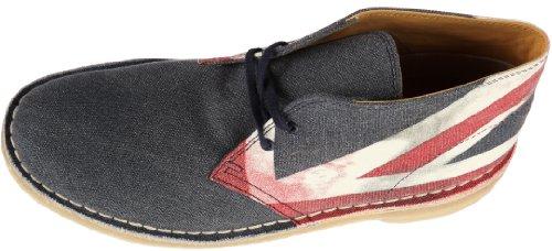 Clarks Desert Boot 20349149 Herren Stiefel Blau (Blue CanvasPrint)