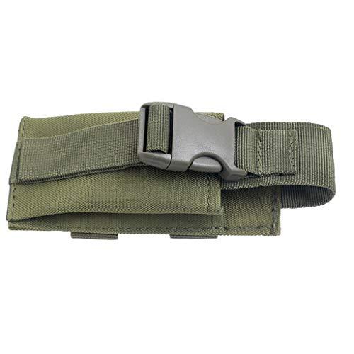 F Fityle Molle Taschenlampe Tragbare Licht Mini Schere Werkzeug Tasche Beutel - Armeegrün -