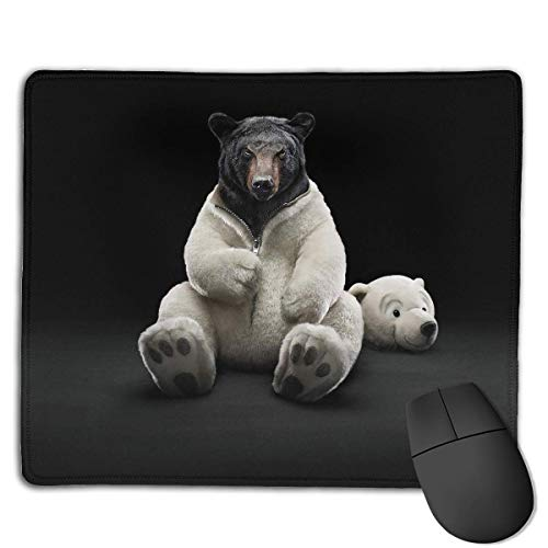 Mouse Pad Funny Bear Dress Up Rectangle Rubber Mousepad 8.66 X 7.09 Inch Gaming Mouse Pad with Black Lock Edge