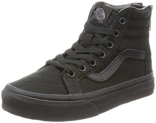 Vans Kinder Sk8-Hallo Zip Schuhe (Pop Check) Black/Black