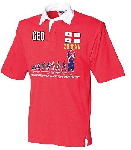 """World Becher 20XV 2015 Gewinner (aktualisierte VERSION) """"Evolution eines Rugby-Shirt für Rugby"""" Erwachsene - Georgia"""