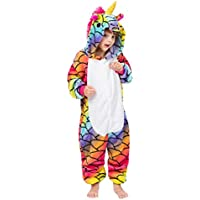Unisex Unicorn Kids Onesie DISEÑOS Diferentes Pijamas Cosplay de Disfraces de Halloween Animal Home Wear Onepiece