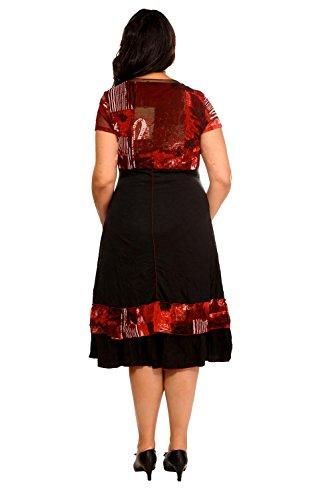 BLEE KLUM -  Vestito  - Vestito  - Tie-Dye - Maniche corte  - Donna Rosso