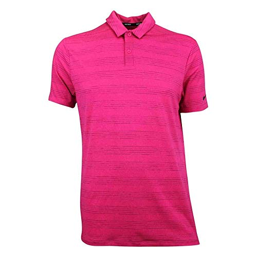 Nike Herren Heather Texture Poloshirt, Watermelon/Rush Pink/Burgundy Crush/Black, XL Heather Brot
