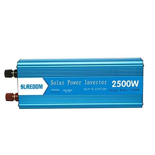 Especificación Potencia nominal: 2500W Potencia máxima: 2500W Onda de salida: onda sinusoidal pura Voltaje de entrada de CC: 12/24/48 V Voltaje de salida de CA: 220V Frecuencia de salida de CA: 50 Hz Eficiencia: 86% tamaño ? 410 * 160 * 100mm Uso óp...
