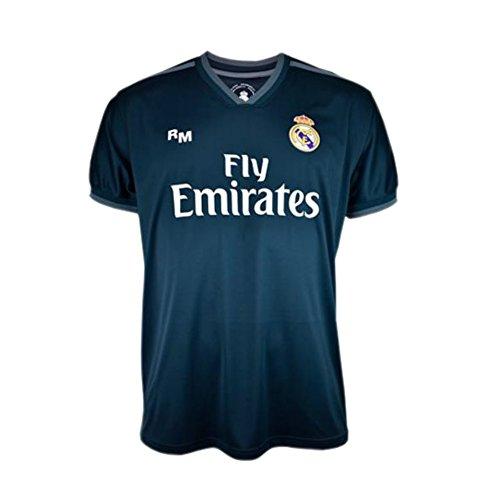 Camiseta 2ª Equipación Real Madrid 2018-2019 – Replica Oficial Licenciada – Dorsal 7 Ronaldo – Adulto Talla L – Medidas Pecho 57 – Largo Total 74 – Largo Manga 21 cm.