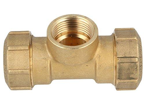 Preisvergleich Produktbild PE-Rohr T-Verschraubung Messing IG-Ausführung: 32 x 1IG x 32