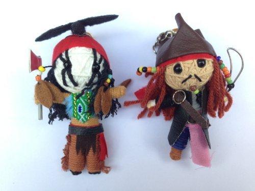 String Doll World Johnny Depp Perlen Helden–Tonto & Jack Sparrow