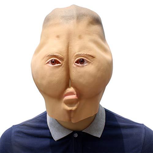 (YuStar Halloween-Maske aus Latex mit Horrorkopf, Brötchen, Arsch, Ganzgesicht, Make-up, Party Kostüm)