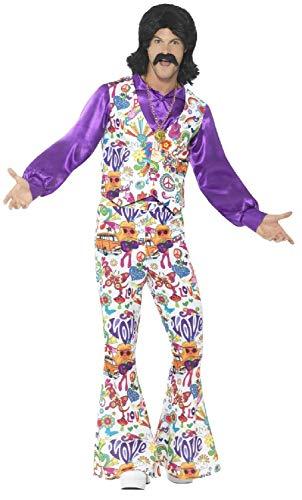 Outfit Pop Art Kostüm - Fancy Me Herren Groovy Hippie 60er 70er Jahre bunt Pop Art Sixties Hippie Dekade Karneval Kostüm Outfit