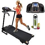 Nero Sports Folding Running Machine Motorised Treadmill with Built in Speakers Heart Rate