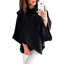 Betrothales Elegantes Sudaderas Mujer High Collar Invierno Mangas De  Murciélago Otoño Sweater Camisas Sudadera Casuales Pullover f6cb294eb98d