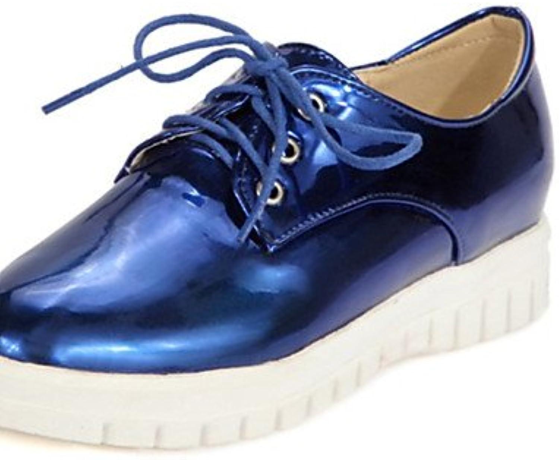 ZQ hug Zapatos de mujer-Tacón Plano-Comfort / Punta Redonda-Oxfords-Exterior / Casual / Deporte-Materiales Personalizados-Azul...