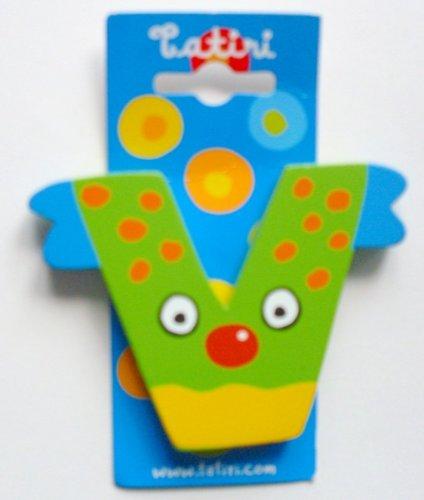 """Tatiri 72031 Holzbuchstabe""""crazy bird - V"""", 7 cm"""