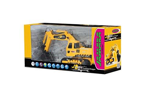 Jamara 404920 - Bagger J-Matic 1:27 2,4GHz - Realistischer Motorsound, Hupe, Rückfahrwarnsound, 660 ° Turmdrehung, programmierbare Funktionen mit Wiederholung, Autoabschaltfunktion,Entladen / Aufladen - 8