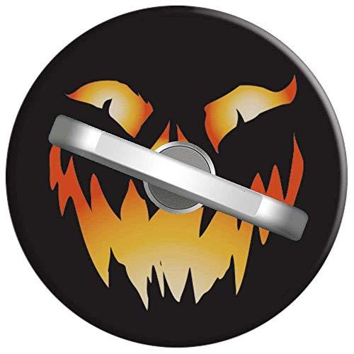 Telefon Handy Ring Jack O Laternen Kürbis Gesichts Katzen Dämon Halloween, 360 Grad drehbar Finger Ring Griff Handy Halter kompatibel mit Smartphones und Tablets 1U1681