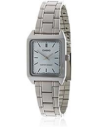 CASIO LTP-V007D-2 - Reloj con movimiento cuarzo japonés, para mujer, color azul y plateado