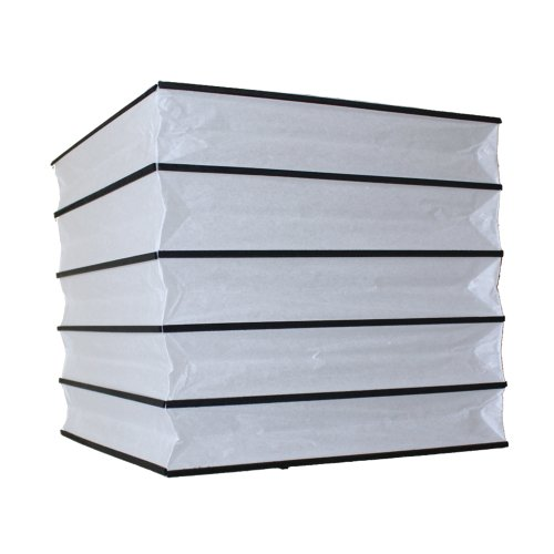 6920B Papier-Lampenschirm für Deckenleuchte, 30cm, quadratisch, schwarz und weiß (Schwarzes Papier-lampenschirm)