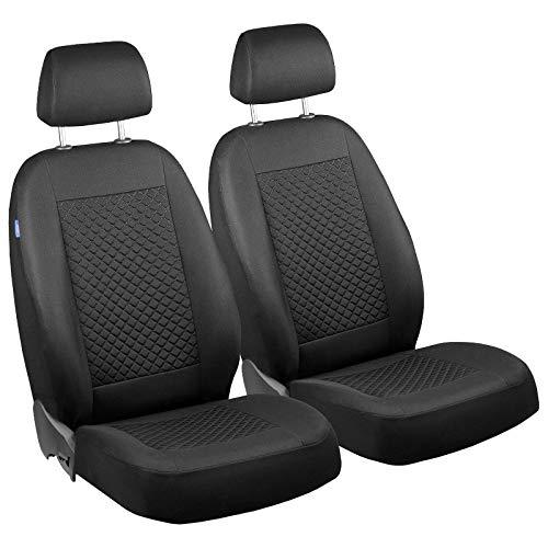 Zakschneider Matrix Vorne Sitzbezüge - für Fahrer und Beifahrer - Farbe Premium Schwarz klein Karomuster - Toyota Sitzbezüge Auto Matrix